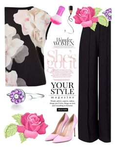 """""""Untitled #677"""" by ellma94 ❤ liked on Polyvore featuring Ted Baker, Miss Selfridge, Gianvito Rossi and Pussycat"""
