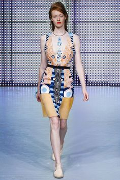 Holly Fulton Spring 2013 ready-to-wear collection at London Fashion Week. #graphicprint #LFW #dress