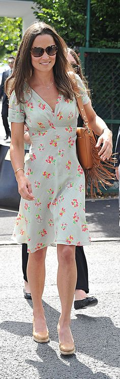 Pippa Middleton wore a mint-green dress from British designer Suzannah