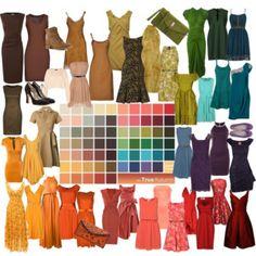 Colors for stitch fix. True Autumn