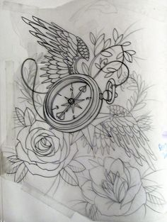 compass and rose tattoos | but have an open bird cage and beautiful pearls and lace