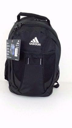 NWT ADIDAS KELSEY Black Backpack Media Pocket Overnight Bag Gym Authentic Luggag #adidas #Backpack #ebay #adidas #Backpack #KELSEY