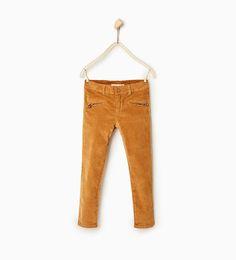 Pantalón velvetón cremalleras - Disponible en más colores