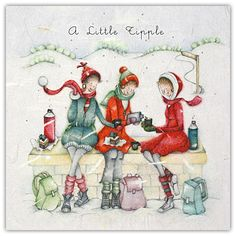 A Little Tipple , Ladies Who Love Life ... Berni Parker funny cute  Berni Parker Designs