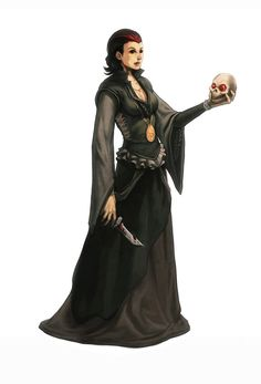 Human Cleric by nJoo female necromancer wizard warlock sorceress sorcerer witch armor clothes clothing fashion player character npc | Create your own roleplaying game material w/ RPG Bard: www.rpgbard.com | Writing inspiration for Dungeons and Dragons DND D&D Pathfinder PFRPG Warhammer 40k Star Wars Shadowrun Call of Cthulhu Lord of the Rings LoTR + d20 fantasy science fiction scifi horror design | Not Trusty Sword art: click artwork for source