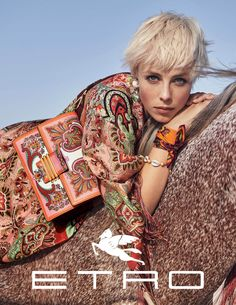Ad Campaign: Etro Spring/Summer 2019: Edie Campbell & Olivia Vinten by Cass Bird