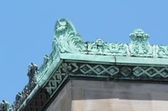 Gutters from 1926 Cleveland police station, designed to look like cornices.
