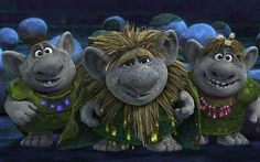 "Rock trolls from ""Frozen."""