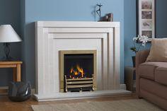 Radnor contemporary fireplace