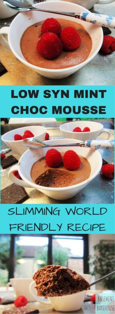 Low Syn Mint Chocolate Mousse - Slimming World - Dessert - Slimming World Pudding - Pudding - astuce recette minceur girl world world recipes world snacks Slimming World Deserts, Slimming World Puddings, Slimming World Recipes Syn Free, Slimming World Syns, Slimming Eats, Slimming World Kids Meals, Slimming World Mousse, Slimming World Muffins, Slimming World Taster Ideas