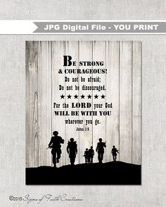 Hey, I found this really awesome Etsy listing at https://www.etsy.com/listing/219557837/instant-download-soldier-scripture-art
