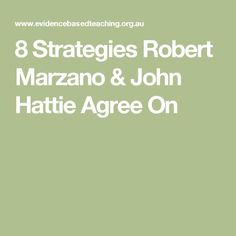 8 Strategies Robert Marzano & John Hattie Agree On Feedback For Students, Marzano, Teaching Strategies, Leadership, Coaching, Teacher, Differentiation, Education, Amp