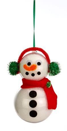 Nicole™ Crafts Double Bubble Snowman Ornament #ornaments #craft #christmas