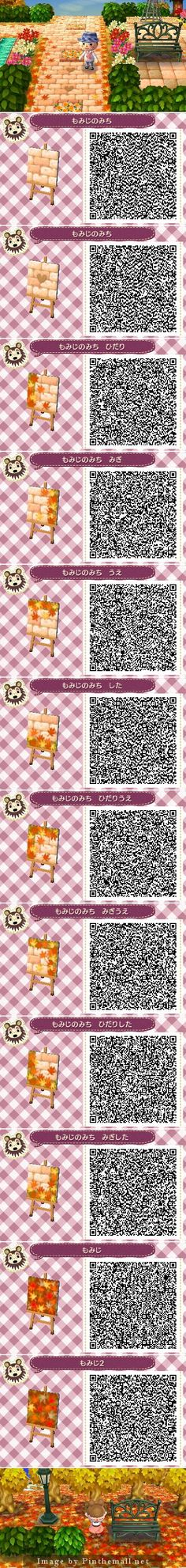 So here's all the pathway patterns for fall! Wish I could do that to my town, but I'm lazy and impatient.