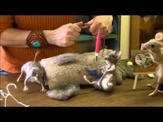 How To Needle Felt - Mouse Series 5: Cheeks and Chin by Sarafina Fiber Art - YouTube