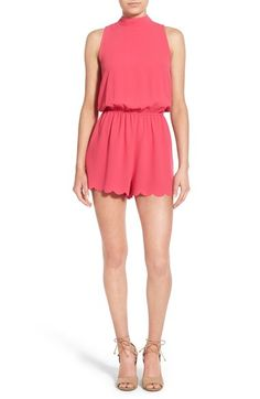 Everly Tie Neck Romper available at #Nordstrom