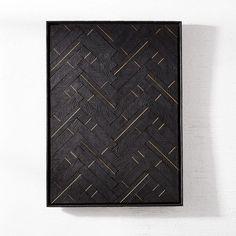 Blackened Wood + Brass Wall Art