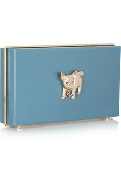 Charlotte Olympia - Year of the Pig Pandora Perspex clutch Nicholas Kirkwood Shoes, Stella Mccartney Dresses, Chinese Zodiac Signs, Year Of The Pig, Dusty Blue, Charlotte Olympia, Toy Chest, Purses And Bags, Swarovski Crystals