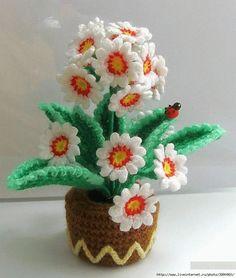 вязаные цветы: примула