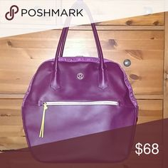 lululemon tote bag Plum tote very good condition barely used from 2+seasons ago lululemon athletica Bags Totes