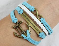 leather Braceletsinfinite leather bracelets by lifesunshine, $6.99