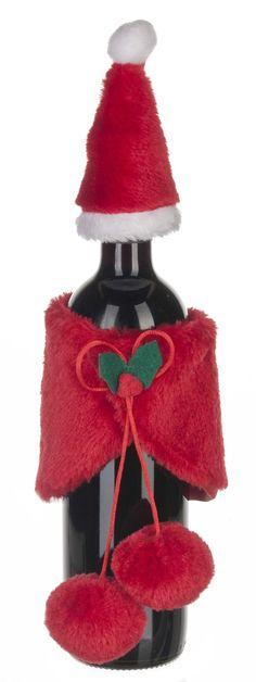 Ganz Santa Wine Bottle Cover and Hat