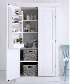 Our favourite freestanding kitchen larder units which add some great storage to your kitchen. Kitchen Larder Units, Kitchen Storage, Tall Cabinet Storage, Larder Storage, Free Standing Kitchen Cabinets, Best Kitchen Cabinets, Cupboards, Pine Wardrobe, Bedroom Wardrobe