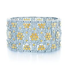 Tiffany Yellow Diamonds inspire a bracelet as radiant as sun-dappled flowers.