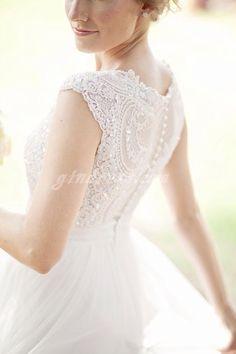 Vestido novia botones