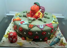 Der kleine Drache Kokosnuss 1.Schultag Torte