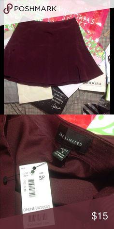 THE LIMITED Burgundy Skater Skirt Brand new Burgundy skirt from The Limited. The Limited Skirts Circle & Skater