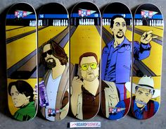 The Big Lebowski was released 19 years ago today. 5:AM Skateboards commemorated it with this skate deck series available at http://www.BoardPusher.com/shop/5am.