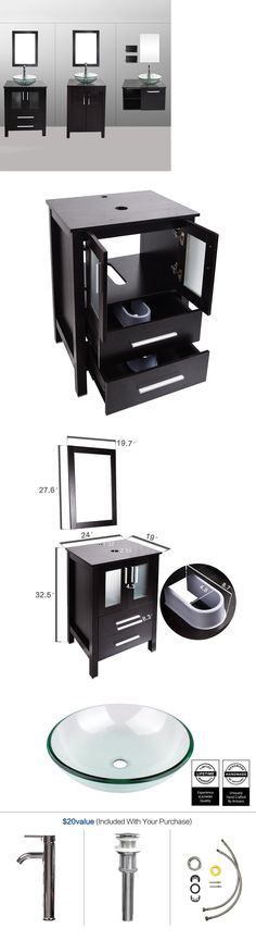 Image Gallery Website Vanities Bathroom Vanity Cabinet Vessel Sink Mirror Combo Bath Accessory Set