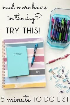Feel like there's never enough hours in the day? TRY THIS! It's amazing how much we can accomplish in a short amount of time, but only if we use those spare minutes wisely. Start a five minute to do list and see how much more you can get done! AD DoYouG2