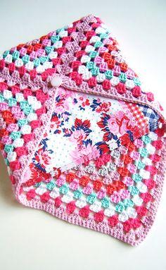 granny crochet napkin holder
