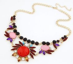 >> Click to Buy << Jewelry wholesale ethnic gem joker sweet New Arrival Fashion Statement Flower Women Collar Choker Necklace Candy Color Necklace #Affiliate