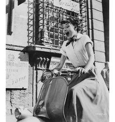 Audrey Hepburn à Rome sur le tournage de Roman Holiday à Rome en 1953