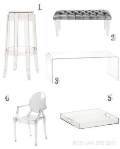 Affordable Acrylic Furniture Finds