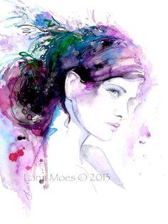 Original Fashion Illustration  Watercolor by Lana Moes by LanasArt, $75.00