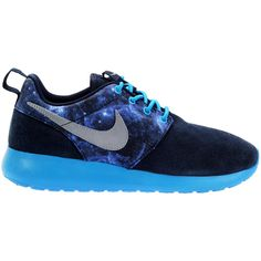 Grade School Nike Rosherun (Navy/Gama Blue/Galaxy) ❤ liked on Polyvore featuring shoes, sneakers, nike, nike sneakers, navy blue shoes, cosmic shoes and blue shoes