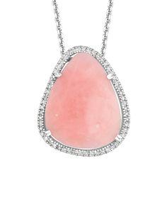 Earthrocks Silver 0.25 ct. tw. Diamond & Opal Pendant is on Rue. Shop it now.