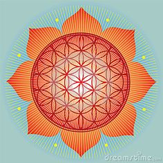 Sacred Geometry SunFlower Royalty Free Stock Photos - Image: 27723008