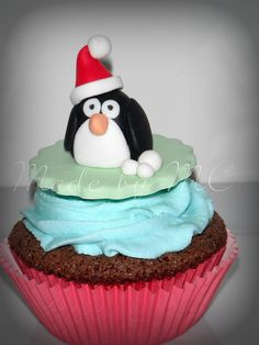 MC Cupcakes - Christmas Penguin Cupcake by Miks MC, via Flickr