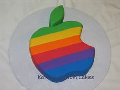 Apple Computer Logo Cake