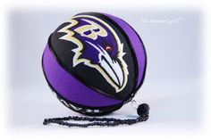 Tutorial to make Ravens ornament  But I think the 49ers would look good on mine!!!
