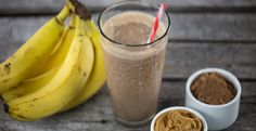 A smoothie great for breakfast fuel or suited to satisfy a chocolate craving in the afternoon. #blenderrecipes #blendtec