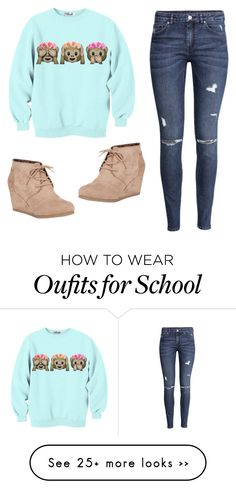 """School Outfit"" by kenziepandalover1 on Polyvore featuring H&M and City Classified"