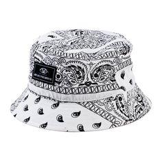 d59d5e8e2afc3 TAJ BUCKET HAT WHITE Black Bucket Hat