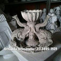 Adorno com duas cabeças de elefante. #elefante #artesanato #gesso #decoracao #elefantes #portajoia #enfeite #adorno #riodejaneiro #brasil #fabrica