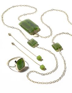 What's new at Macy's Herald Square: GINETTE NY gold and jade jewelry